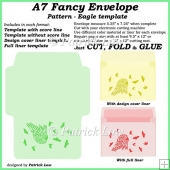 A7 Fancy Envelope - Pattern - Eagle template