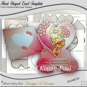 Heart Shaped Easel Template PLUS Bonus Mini Easel