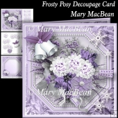 Frosty Posy Decoupage Card