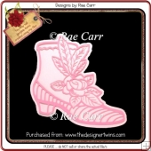 966 Ladies Boot & Roses Shaped Topper Multiple MACHINE Formats