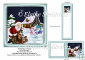 Santa Has Arrived 6 x 6 Card Topper Gift Card & Bookmark