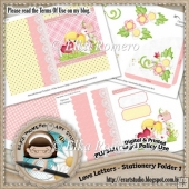 Love Letters - Stationery Folder 1 (5 x 7 in)