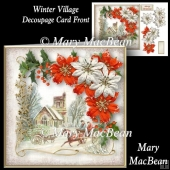 Winter Village Decoupage Card Front