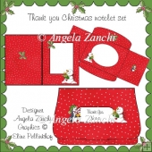 CHRISTMAS THANK YOU NOTELET SET