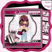 SHOPPING DIVA 7.5 Decoupage & Insert Card Kit
