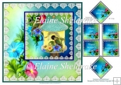 "Summer At The Birds House - 8"" x 8"" Card Topper & Tags"