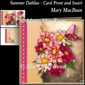 Summer Dahlias - Card Front and Insert