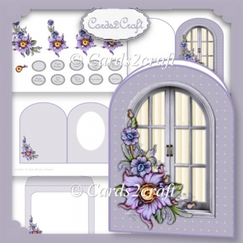 Passion flower and window card set