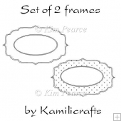 A set of 2 shapes for matting or sentiments