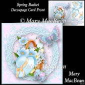 Spring Basket Decoupage Card Front
