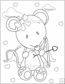 Ivy Mouse Playing Cupid