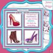 BRIGHT SHOE HAPPINESS SQUARES 7.5 Quick Layer Card & Insert Kit