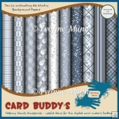 Ten Co-ordinating A4 Wintry Background Papers - CU/PU
