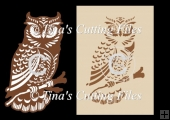 Large Owl cutting file for card/paper/vinyl cutting