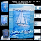 Sailing The Deep Blue Sea 3D Pop Out Concertina Scenic Box Card