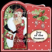 Art Deco Ladies Quick Christmas Cards