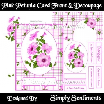 Pink Card Front & Decoupage