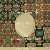 Printable Paper Bead Sheet Set 1