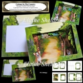 Cottage In The Country - Diorama Tunnel Card Kit With Envelope