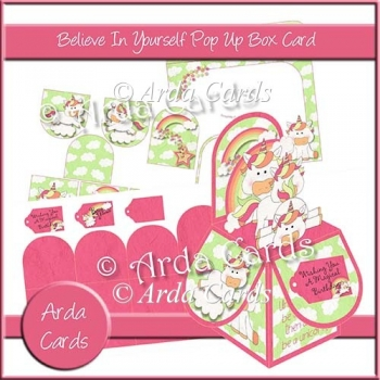 Believe In Yourself Pop Up Box Card