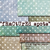 FRACTURED SPOTS - 8 sheets of printable A4 digital papers CUOK