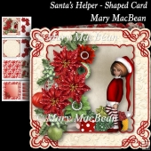 Santa's Helper - Shaped Card