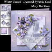 Winter Church - Diamond Pyramid Card