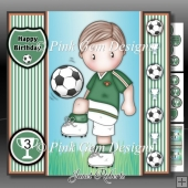 Football Andy 2 Green Mini Kit With Ages 3 to 7 yrs