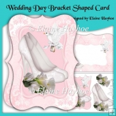 Wedding Day Bracket Shaped Card