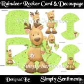 Raindeer Rocker Card & Decoupage