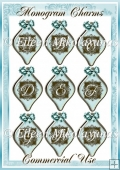 Monogram Charms Set of Capital Letters for Crafters & Designers