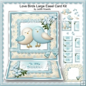 Love Birds Large Easel Card Kit
