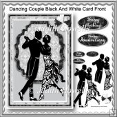 Dancing Couple Black And White Card Front