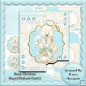 Beary Christmas Shaped Foldback Card 2