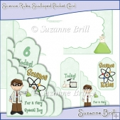 Science Rules Scalloped Pocket Card