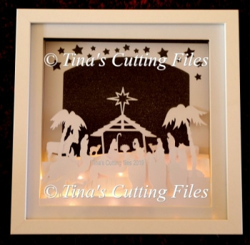 Nativity Christmas Scene - Multi layered for Shadow Boxes