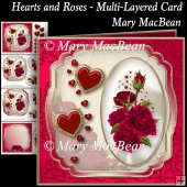 Hearts and Roses - Multi-Layered Card