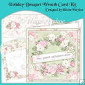 Holiday Bouquet Wreath Card Kit