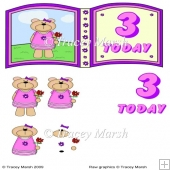 Clarissa Bear 3 Today Birthday Open Book Page