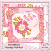 Perfect Floral 1 Decoupage Card Front