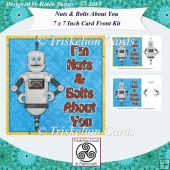 I'm Nuts and Bolts About You 7 x 7 Inch Card Front