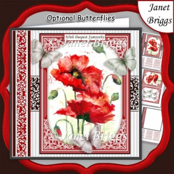 POPPIES & BUTTERFLIES All Occasions Quick Card & Insert Kit