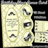 Birthday Shoes Cameo Card