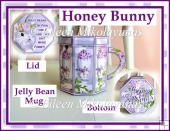 Easter Honey Bunny Jelly Bean Mug Box with Directions
