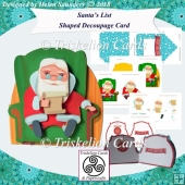 Santas List Shaped 3D Decoupage Christmas Card Kit