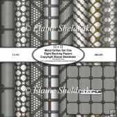 Metal Grilles Set One Eight Assorted Sheets Of 12 x 12 BP