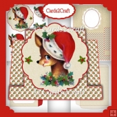 Christmas Bambi stepper card