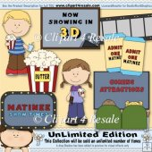 Movie Theater ClipArt Graphic Collection
