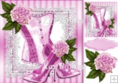 pink sparkle shoes with pink flowers on lace 8x8