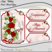 Ruby Wedding Shaped Card Front/Topper